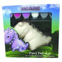 Dinosaurus - Big T Tirelire À Peindre Soi-mÊME Rose