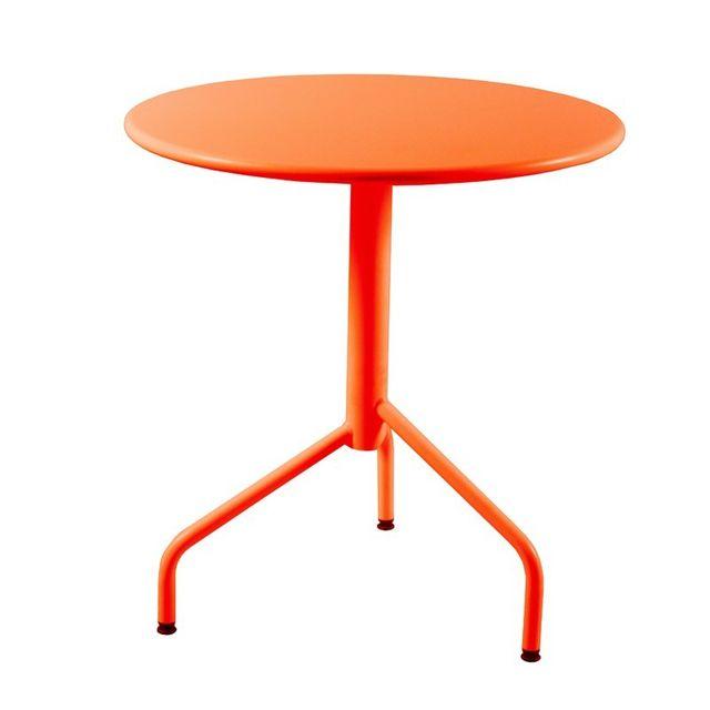 Rm Metal - Table ronde de Jardin en métal pliante 3 pieds, 70 cm ...