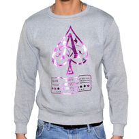 Marque Inconnue - Monsterpiece - Sweat Shirt - Homme - As Jay Z - Gris Violet