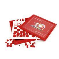 Smir - Coffret dames et échecs en bois acidulé