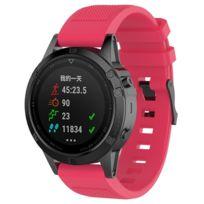 plus de photos 859b9 c8872 Bracelet en silicone twill de montre rose pour votre Garmin  Fenix5/Forerunner 935/Quatix5/Quatix5 Sapphire/Approach S60