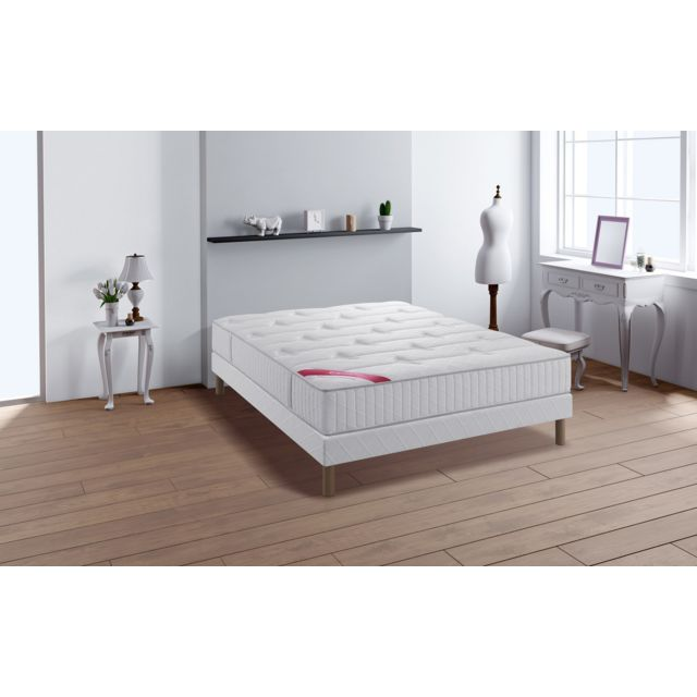 soldes relaxima performance ensemble sommier matelas ressorts ensach s m moire de forme. Black Bedroom Furniture Sets. Home Design Ideas