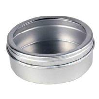 Shot   Boite Ronde De Rangement Avec Couvercle Transparent Pour Creme  Cosmetique Coton Tiges Coton