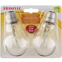 Franelec - Ampoule éco-halogène B22 42w les 2pièces