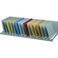 Paperflow - Trieur 16 cases inclinées gris