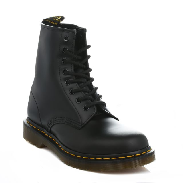 1e3ffdd705f Dr. Martens - Mens Womens Black 1460 Smooth Leather Ankle Boots-UK 13 - pas  cher Achat   Vente Boots femme - RueDuCommerce