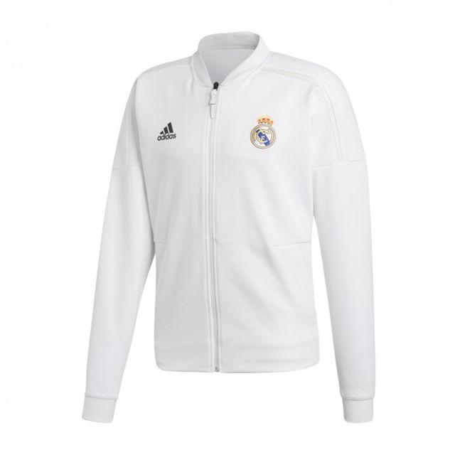 Adidas - Real Madrid ZNE JKT KN 2018-2019 - pas cher Achat   Vente ... 27a80a7e8a62