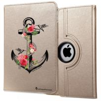 La Coque Francaise - Etui iPad 2/3/4 rigide or, Ancre