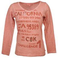 Cbk - Tee shirt manches longues Calif rose ml tee lady Rose 26678