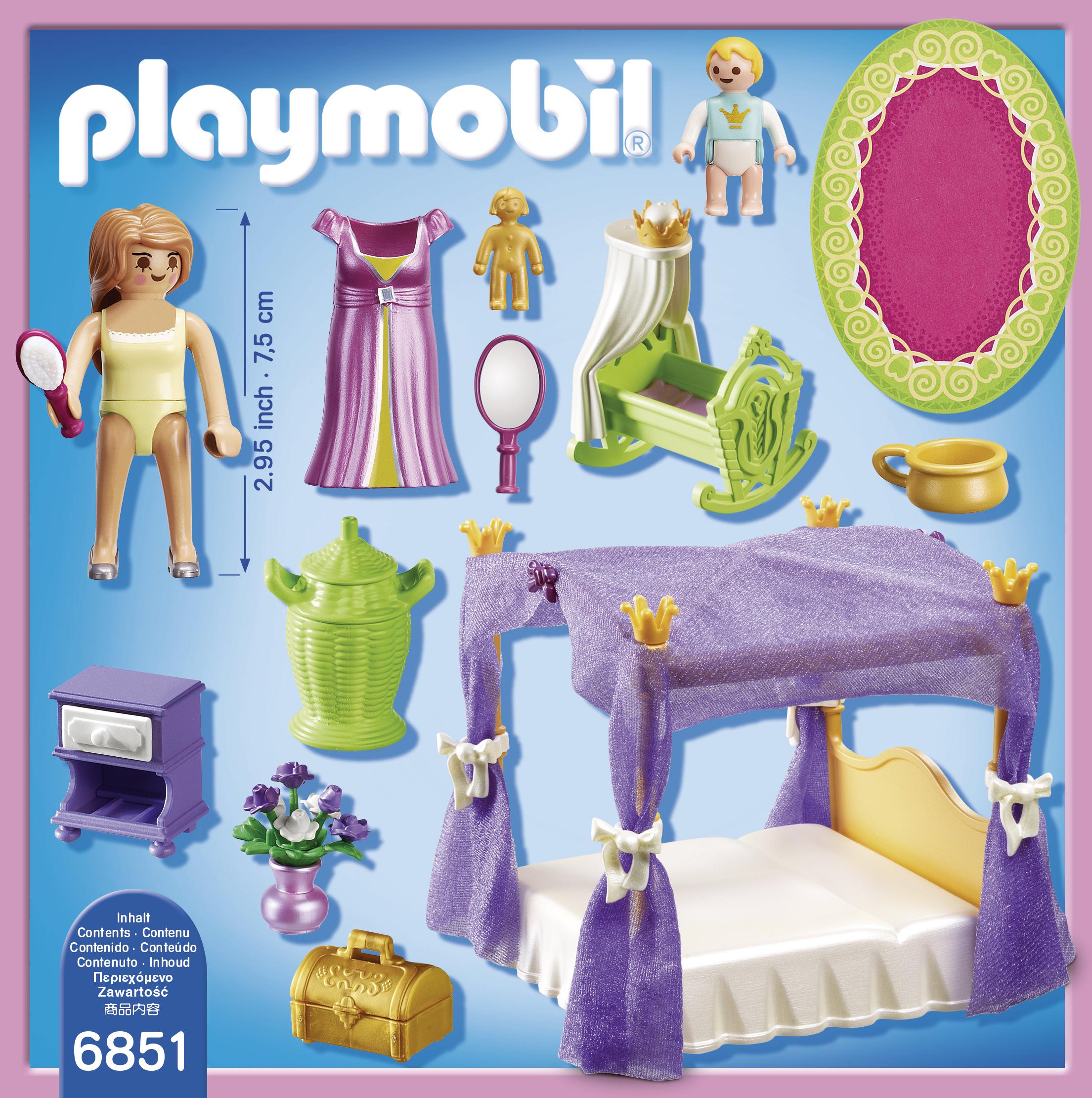 PLAYMOBIL - Chambre de la reine avec lit à baldaquin - 6851 - pas ...
