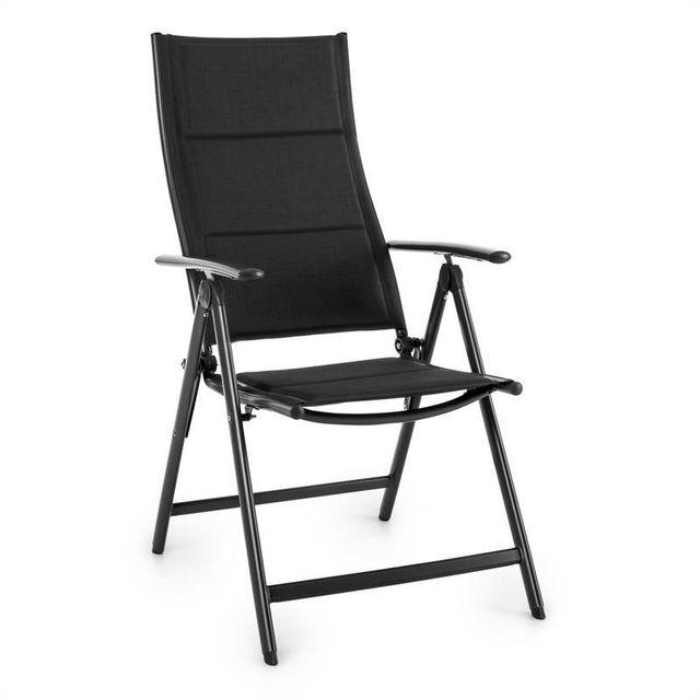 blumfeldt stylo royal black chaise de jardin chaise pliante aluminium noir pas cher achat. Black Bedroom Furniture Sets. Home Design Ideas