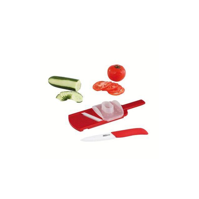 Kitchen Artist Set couteau et mandoline céramique Mec109