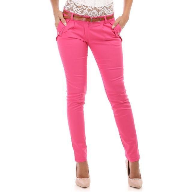 pantalon femme fushia