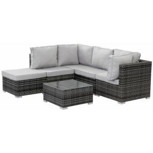 habitat et jardin salon de jardin en r sine tress e boston florida gris nc pas cher. Black Bedroom Furniture Sets. Home Design Ideas