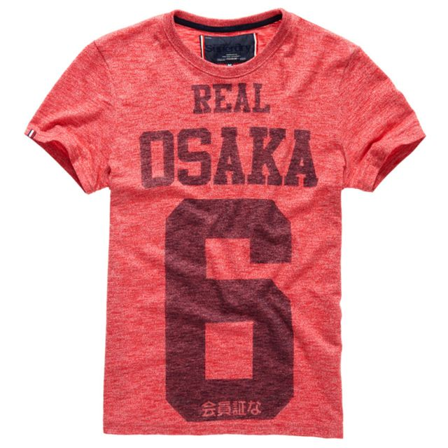 6 Mc Real Osaka S T Rouge shirt Superdry Homme Taille pas HZ7EqxAwnw
