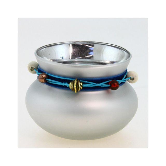 Comptoir Des Bougies Photophore lumignon boule Ruban - Argent