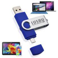 """I Usb U - Cle Usb flip double 64 Go """"Classe A"""" pour smartphone, tablette Android, Pc et Mac, Usb - micro Usb """"OTG"""