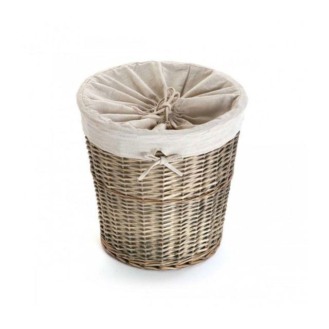 wadiga panier linge en osier int rieur en tissu amovible pas cher achat vente panier. Black Bedroom Furniture Sets. Home Design Ideas