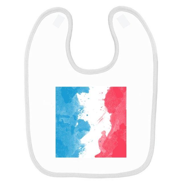 b06fc5dfb8dc Mygoodprice - Bavoir bébé imprimé drapeau peinture France Blanc ...