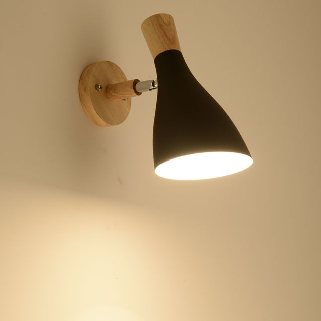 Lampe murale créative Swing Head Applique lumière Chambre éclairage Lampe de lecture de chevet