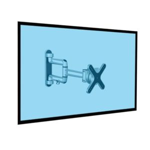 Kimex - Support mural articulé pour écran Tv 13''-23''- Gamme Premium