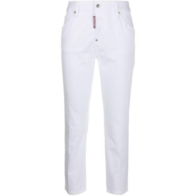 DSQUARED2 Femme S75LB0260S3902101100 Blanc Coton Jeans