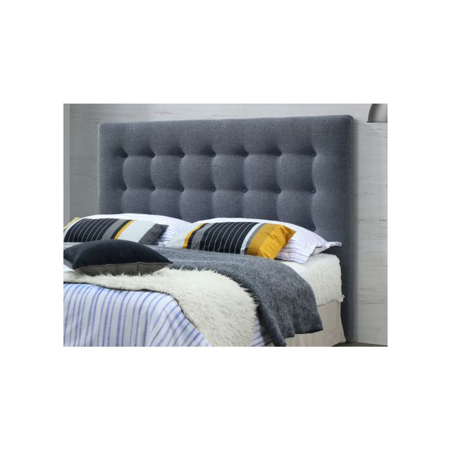 marque generique t te de lit capitonn e francesco 140. Black Bedroom Furniture Sets. Home Design Ideas
