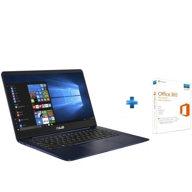 ASUS - ZenBook Plus - UX430 - Bleu métal + Microsoft Office 365 Personnel