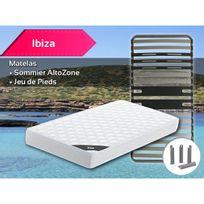 Altobuy - Ibiza - Pack Matelas + AltoZone 90x190 + Pieds