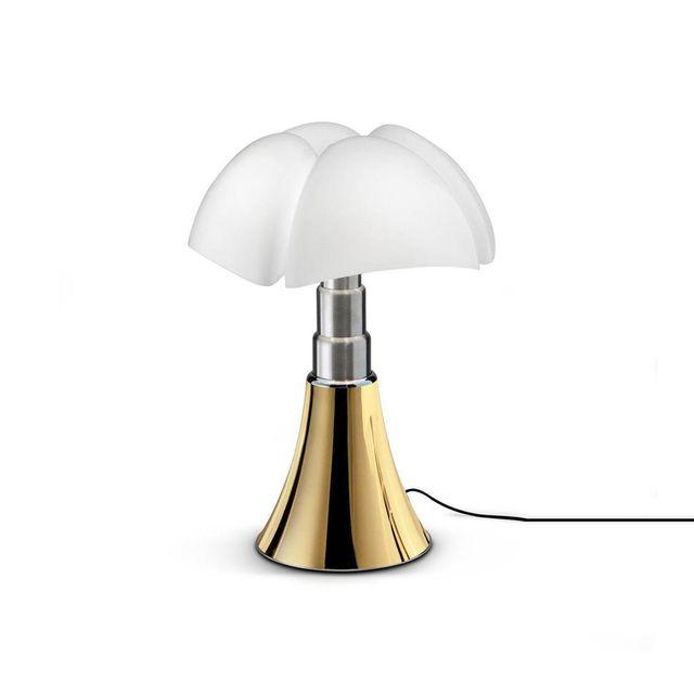 Martinelli Luce Mini Pipistrello - Lampe Doré Touch Led Edition limitée H35cm - Lampe à poser designé par Gae Aulenti