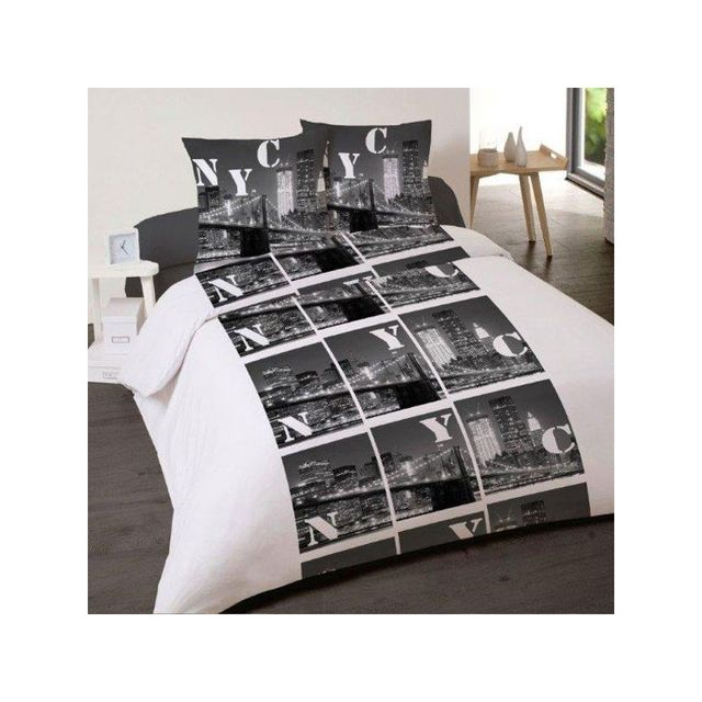 linge usine housse de couette 240 x 220 2 taies new multicolore 240cm x 220cm pas cher. Black Bedroom Furniture Sets. Home Design Ideas