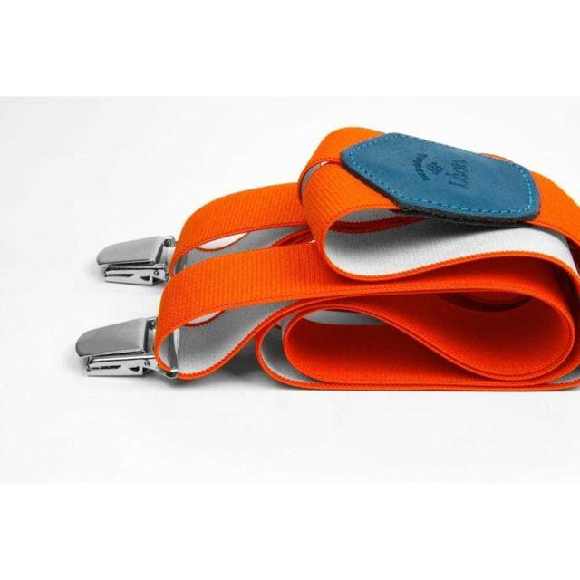 Les Bretelles De LÉON Bretelles Larges Orange Dérange - Les Bretelles de Léon