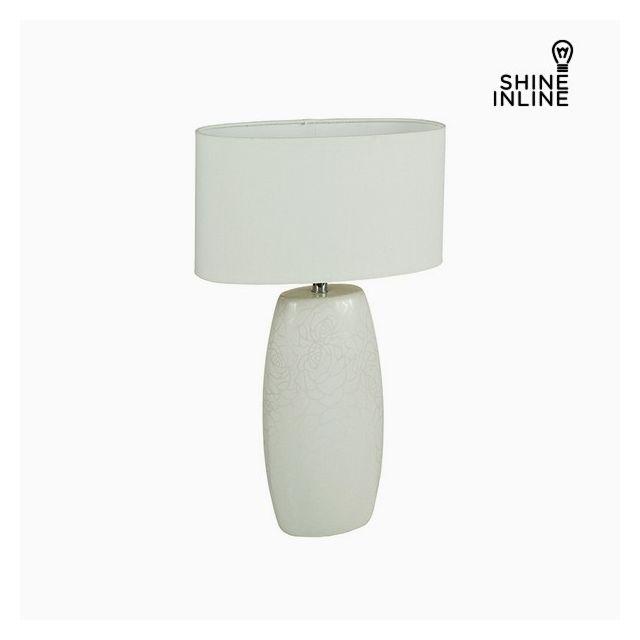 Marque Generique Lampe A Poser Blanche Ceramique Avec Finition