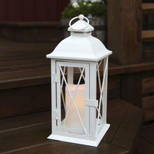 Best season lantern lanterne d 39 ext rieur m tal blanc for Luminaire exterieur lanterne