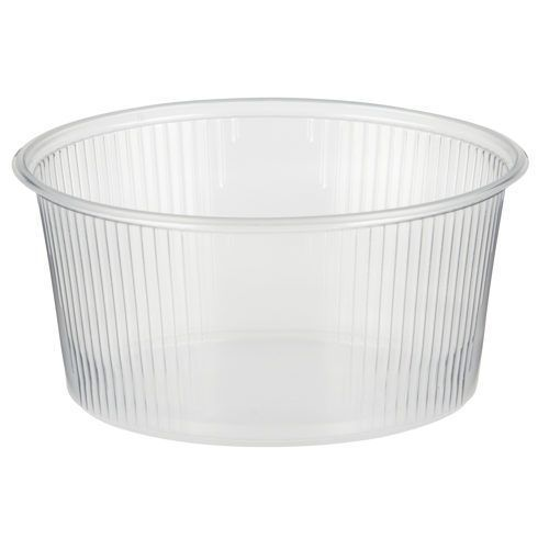 Papstar 1000 Boîte d'emballage, Pp rond, 250 ml, Ø 10,1 cm, 5 cm, transparent - 82042