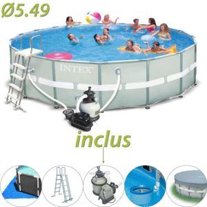 piscine tubulaire intex ultra frame 549 x 132 cm. Black Bedroom Furniture Sets. Home Design Ideas