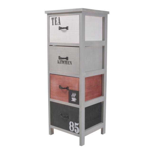 FRANDIS Meuble Rangement de cuisine - 4 tiroirs - factory