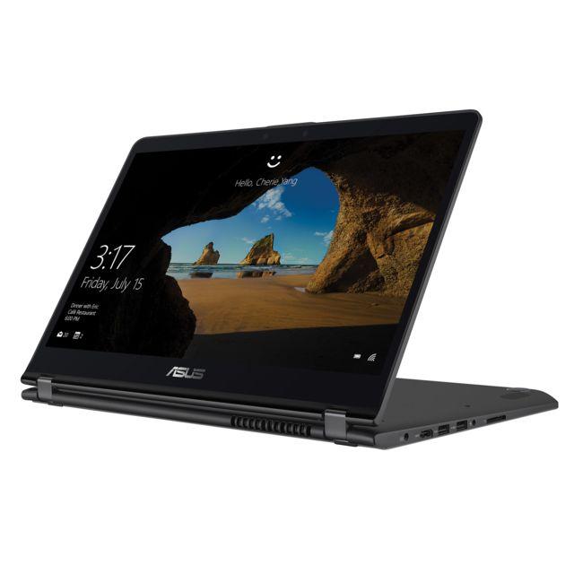 """ASUS ZenBook Flip UX561UD-BO009T - Gris Ecran 15,6"""" Full HD Tactile 360° - Epaisseur de 21 mm - Poids de 2,1 Kg - Clavier AZERTY chiclet rétroéclairé - HDMI - USB 3.0 - USB 3.1 Type-C"""