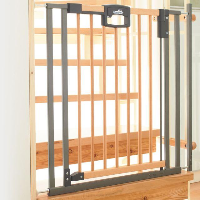geuther barriere de s curit pour escalier easylock wood. Black Bedroom Furniture Sets. Home Design Ideas