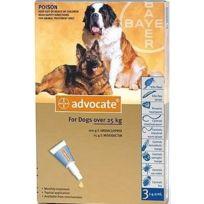 Bayer - Pack 3 X Advocate Antiparasitaire Chiens De 25 À 40 Kg