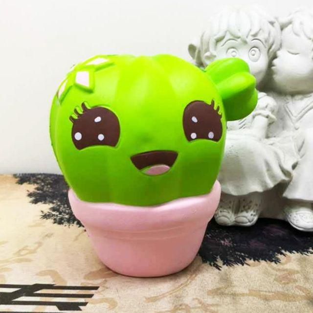 Wewoo Jeux anti stress rose Cartoon Cactus Style Pu Slow Rebond Simulation Jouet Relief Cadeaux Sains, Taille: 10 8 7.8 cm