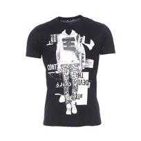 Antony Morato - Tee-shirt col rond noir floqué d'une silhouette