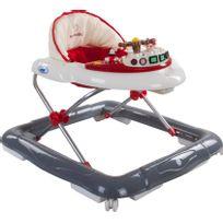 Trotteur interactif sons lumières bébé 6-12 mois Marine   Crème et Gris