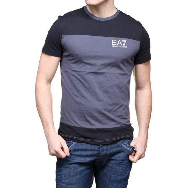 Ea7 Emporio Armani - T Shirt 6xpt79 - Pj02z 1994 Anthracite - pas ... 95dd2674ced