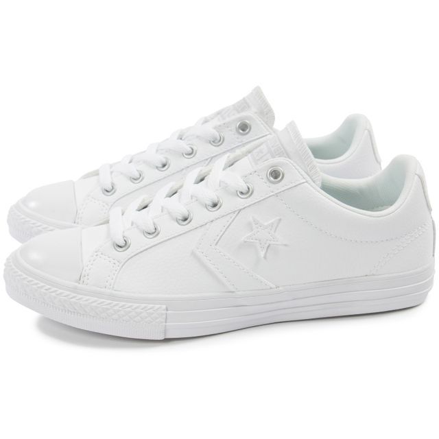 Converse - Star Player Cuir Blanche - pas cher Achat / Vente ...