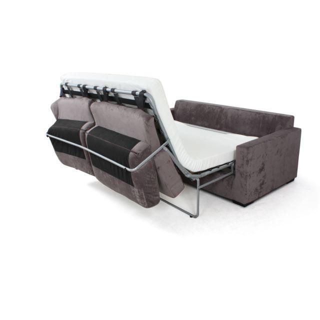 Habitat et Jardin - Canape convertible Michigan Couchage 120x190, 140x190 ou 140x200 - Matelas 24kg ou 30 kg epaisseur 10cm - Plusieurs coloris au choix
