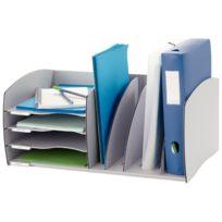 Paperflow - trieur séparateur, 4 cases, coloris : gris