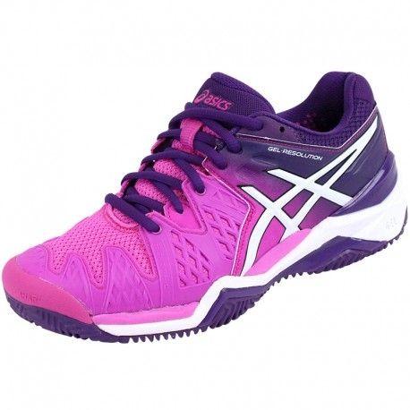Chaussures Gel Resolution 6 Clay Tennis Rose Femme Asics