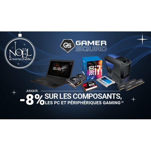 GAMER SQUAD : Jusqu'à -7% sur les Composants, les PC et les Périphériques Gaming* !