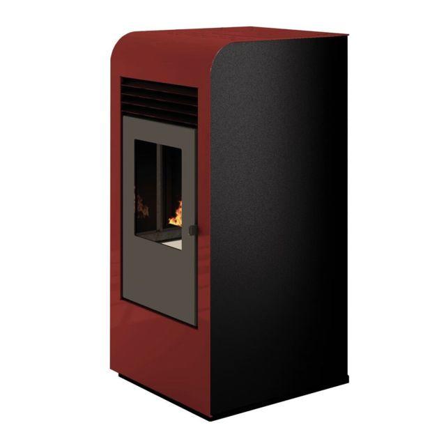 Sannover Thermique Poêle à granulés air Giada 8kW Bordeaux Sannover